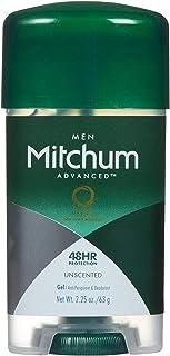 Mitchum Deodorant Mens Gel Unscented 2.25oz (2 Pack)