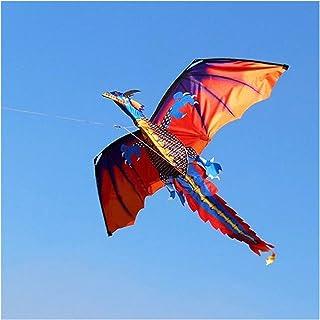 kite 3D 100M Kite Single Line With Tail Kites Outdoor Fun Toy Kite Family Outdoor Sports Toy Children Kids NEW