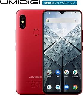 UMIDIGI F1 SIMフリースマートフォン Android 9.0 5150mAh 大容量バッテリー 18W高速充電 6.3インチ FHD+ 大画面 128GB ROM + 4GB RAM Helio P60オクタコア 16MP+8MPデュアルリアカメラ 技適認証済み 顔&指紋認証 auキャリア不可 red
