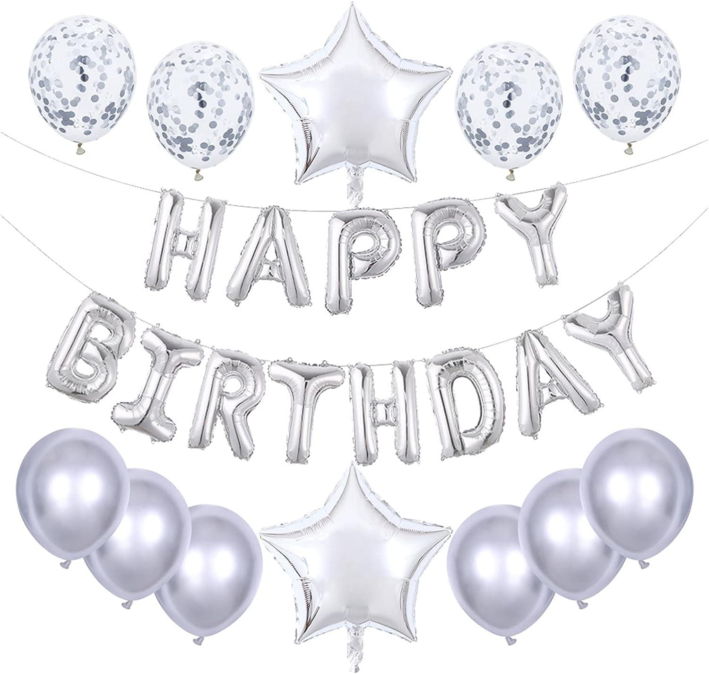 LOUQINGDZ Balloons 25pcs Set Happy Popular standard Birthday Foil Cheap sale