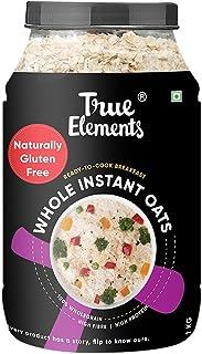 True Elements Instant Oats 1kg - Gluten Free Oats, Whole Oats, 100% Wholegrain