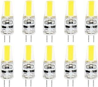 JKLcom G4 LED Bulb,G4 Bi-Pin Base Light Bulbs,3W COB LED Light Lamps,20W Halogen Bulb Equivalent, DC 12 Volt,Non Dimmable, 6000K Cool White,10 Pack