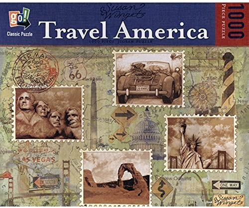 Susan Winget Travel America 1,000 Piece Jigsaw Puzzle by Go  by On The Go