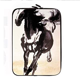 Print Asian Horse Artists Loveliness Womon Use As 8Inch Computer Table Bag Silica Gel