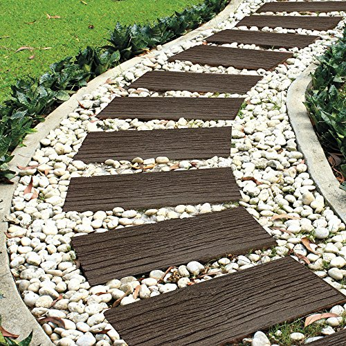 Garden Gear Garden Stepping Stone Steps Eco Friendly Recycled Rubber Tyre Rail Road Sleepers (2 Stones)