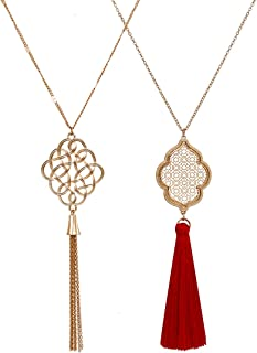 Best red necklace long Reviews
