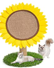 MXiiXM Cat Tree Tower, Sunflower Cat Climbing Frame Furniture Scratching Post for Kitty Climber House Cat Play Tower Activity Centre for Playing Relax and Sleep