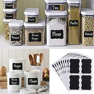 36Pcs/pack Chalkboard Stickers Black Bottle DIY Stiky Stickers Blackboard Craft Kitchen Jar Organizer Labels