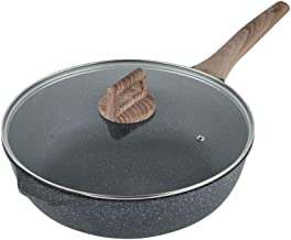 DPWH Cooking Utensils Frying Pan, Pan Non-stick Frying Pan Flaming Red Deep Pancake Pan Induction Cooker Gas Stove Univers...