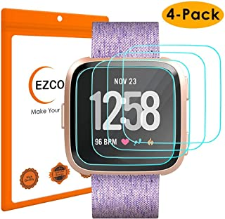 EZCO 4-Pack Screen Protector Compatible with Fitbit Versa & Versa Lite (Not for Versa..