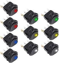 4 Stück 12V rund LED Beleuchtet Wippenschalter Nebelscheinwerfer Wippschalter