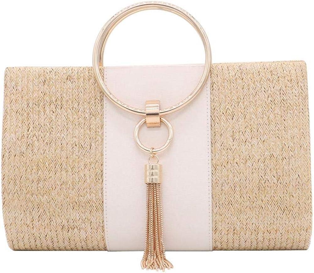 Straw Evening Bag for Women Clutch Wedding Elegant Handb Bridal New Free Now free shipping Shipping