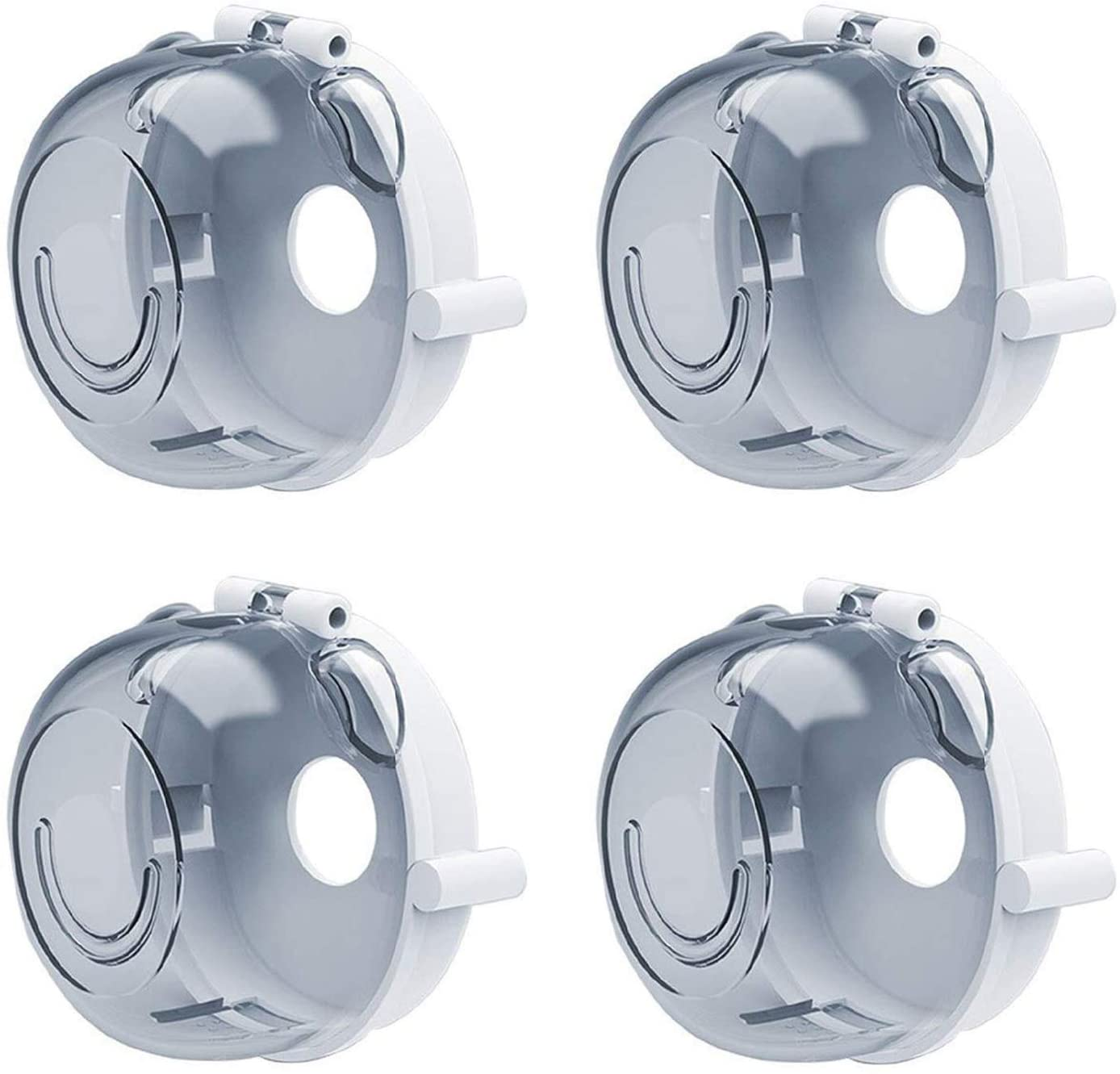 4pcs Stove Knob Covers, Baby Proof Kids Safety Oven Gas Large Universal Design Stove Knob Cap Protection Locks Pet Proofing for Child Switch Toddler Kitchen Baby Proof, Transparent