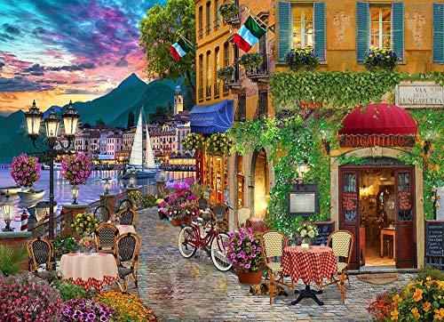 43LenaJon Unwiderstehliches Italien-Puzzle, 500 Teile, Holz-Puzzle-Spiel, Familienpuzzle, Lernspiele, Wanddekoration, Dekoration