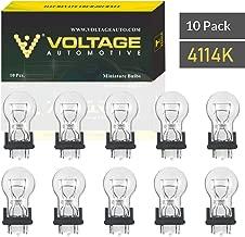 Voltage Automotive 4114K Automotive Brake Light Turn Signal Side Marker Tail Light Bulb (Box of 10)