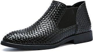 a7fe0849 Botas De Chelsea para Hombre Botas De Tobillo para Hombre Zapatos De Vestir  De Cuero con