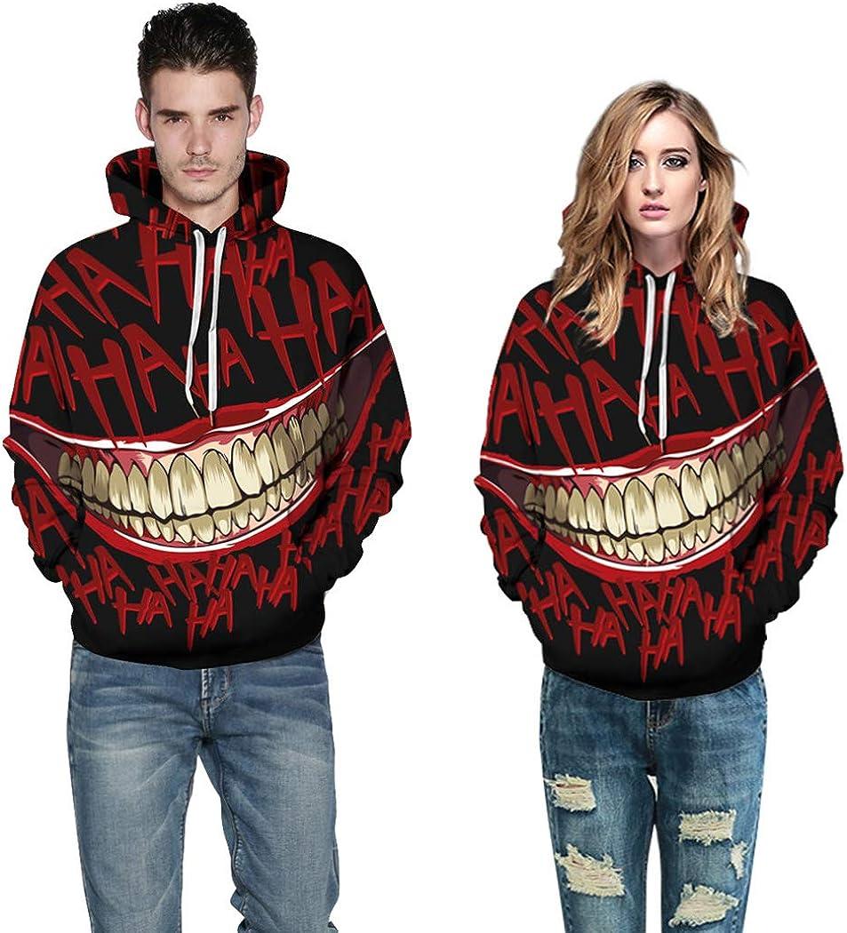 Unisex Realistic 3D Printed Stylish Teens Sweatshirt Hoodie for Men Women