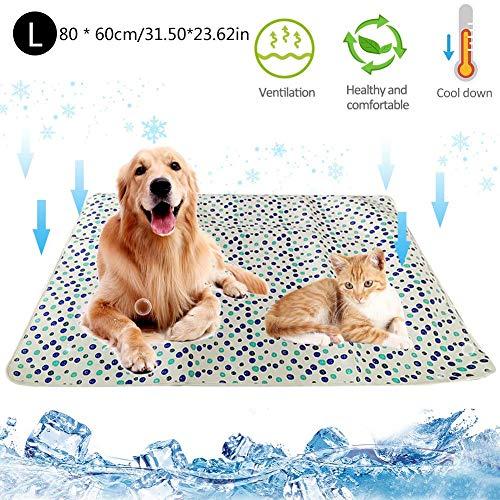 Fanlary Almohadilla De Enfriamiento para Mascotas, Almohadilla De Enfriamiento Automático De Verano para Gatos Y Perros De Hielo Frío Plegable De Varios Tamaños, Almohadilla para Sofá para Incredible