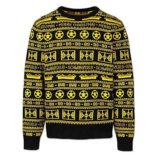 Borussia Dortmund Unisex-Erwachsene BVB-Weihnachtspullover 2020 Pullover, Schwarz Gelb, 3XL