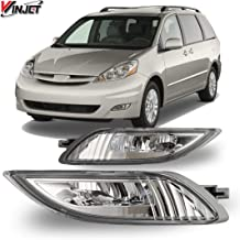 Pair 80W LED Fog Light Clear Len Replacement Upgrade For 11-17 Toyota Sienna T5