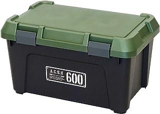 アステージ 収納ボックス Xシリーズ アクティブストッカー 600X ブラックグリーン 幅60×奥行38×高さ33.3cm