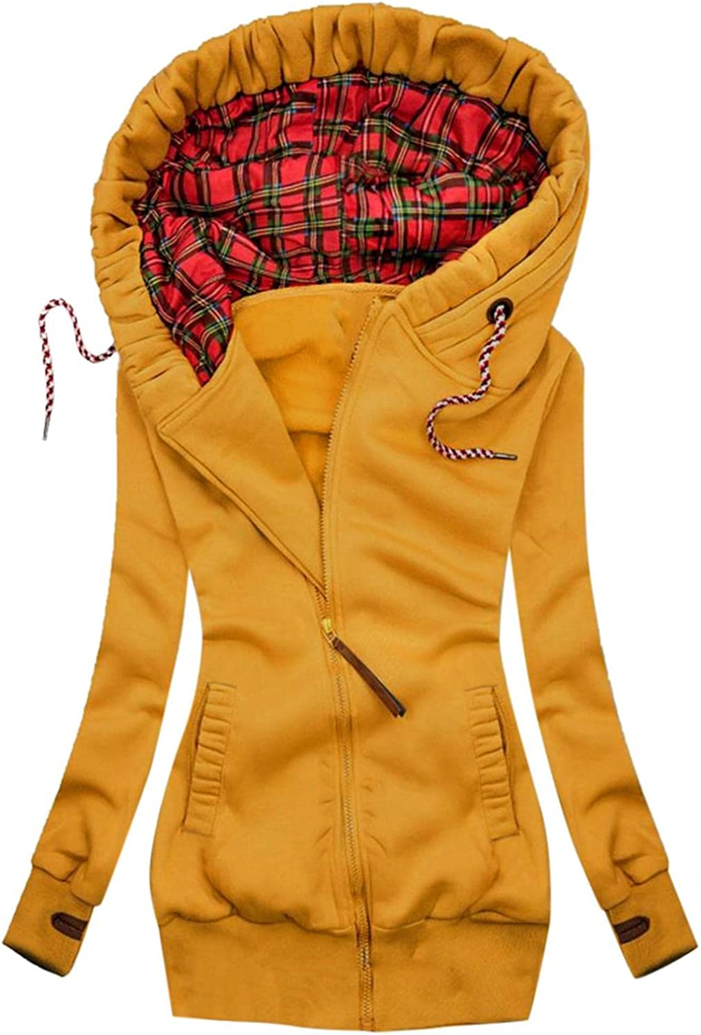 Jackets For Womens Lightweight Zip Up Casual Bomber Jacket Coat Stand Collar Short Outwear With Pocket