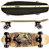 FunTomia Cruiser midi-board o skateboard de 65 cm, madera de arce canadiense de 7 capas o madera de arce canadiense de 5 capas y 2 capas de madera de bambú. Incluye Rodamientos MACH1 ABEC-11