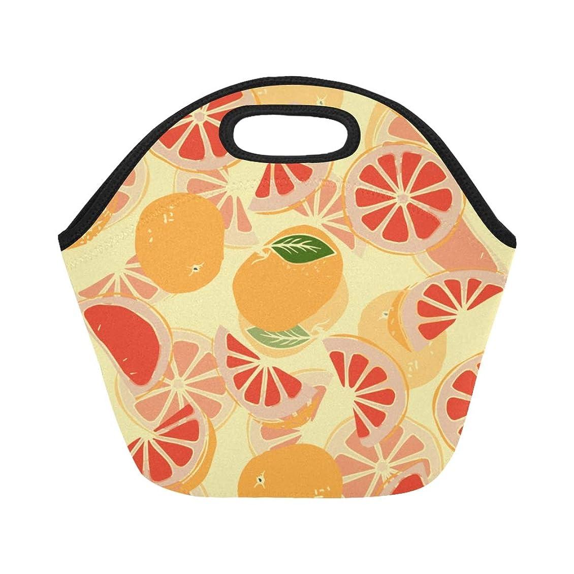 距離目に見える形式GXMAN ランチバッグ 栄養的なグレープフルーツ 弁当袋 お弁当入れ 保温保冷 トート 弁当バッグ 大容量 トートバッグ