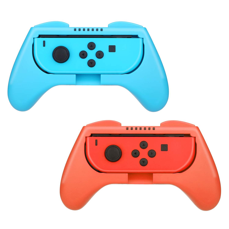 HEYSTOP Nintendo Switch Joy-con Grips (2 Piezas), Mando Joy-con Grip Kit, Funda Protector Handle Kits para Mandos Joy-con Set de Nintendo Switch Controller, Rojo & Azul: Amazon.es: Electrónica