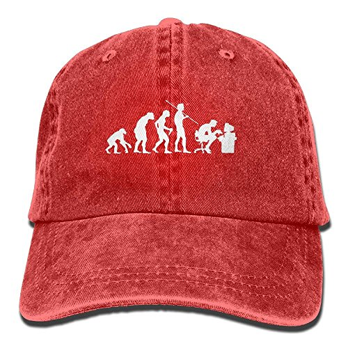 Evolution of A Computer Geek Retro Washed Dyed Cotton Adjustable Plain Cap Low Profile,Personality Caps Hats Men Women Casual Denim Adjustable Dad Hat Baseball Cap Trucker Hat