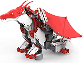 UBTECH JIMU Robot Mythical Series: Firebot Kit/ App-Enabled Building & Coding STEM Robot Kit (606 Pcs), Red, Model:JRA0601