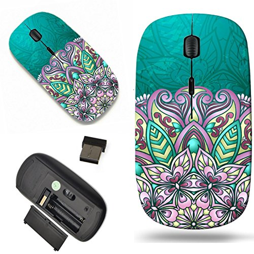 Luxlady Wireless Mouse Travel 2.4G Wireless Mice with USB Receiver, 1000 DPI for notebook, pc, laptop, macdesign IMAGE ID: 24068684 Vintage pattern Hand drawn abstract background Decorative retro bann