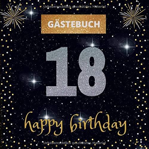 Gästebuch 18. Geburtstag: happy birthday | mit witzigen Fragen zum Ausfüllen | Erinnerungsalbum...