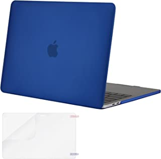 MOSISO MacBook Pro 13 inch Case 2019 2018 2017 2016 Release A2159 A1989 A1706 A1708, Plastic Hard Shell Cover & Screen Protector Compatible with MacBook Pro 13 with/Without Touch Bar, Royal Blue