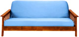 Magshion Fit 8~10 Inch Futon Mattresses Futon Cover Slipcover (Full (54x75 in.), Light Blue)