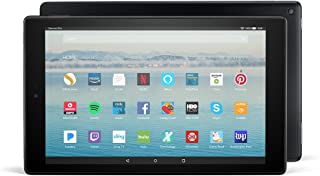 """Certified Refurbished Fire HD 10 Tablet with Alexa Hands-Free, 10.1"""" 1080p Full HD Display, 32 GB, Black - with Special Of..."""
