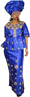 African Dresses for Women 100% Cotton Embroidery Design Dress African Clothes