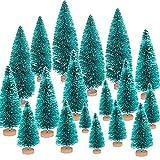 FORMIZON 15Pcs Mini Árbol Navidad, Mini Navidad Verde Árbol Artificial Abeto, Pequeño Artificial en Miniatura Nevado Pino, Manualidades Navideñas Pequeño árbol de Navidad Decoración para Paisaje