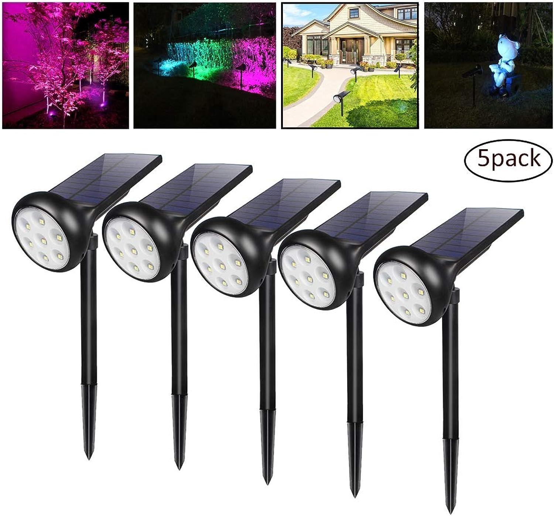 HULYZLB Solar Strahler Garten, 7LED wasserdichte Garten Wandleuchten Für Patio Dekoration, 7000K Sicherheitsbeleuchtung