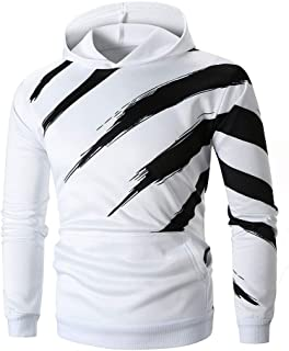 iLXHD Men's Autumn Cotton blendLong Sleeve Printed Hoodie Hooded Sweatshirt Top Tee Outwear Blouse
