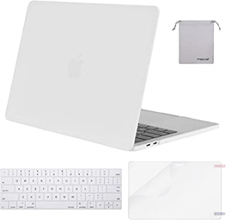 MOSISO MacBook Pro 13 inch Case 2019 2018 2017 2016 Release A2159 A1989 A1706 A1708, Plastic Hard Shell &Keyboard Cover &Screen Protector &Storage Bag Compatible with MacBook Pro 13, White