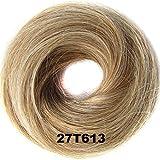 Scrunchy Scrunchies Flower Hair Bun Updo Hairpiece Hair Ribbon Ponytail Extensions Hair Wig Extensions Wavy Curly Messy Hair Bun Donut Hair Chignons Hair Piece #27T613