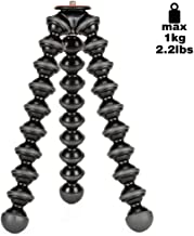 JOBY Gorillapod 1K Stand. Lightweight Flexible Tripod 1K Stand for Mirrorless Cameras or Devices Up to 1Kg (2.2Lbs). Black/Charcoal