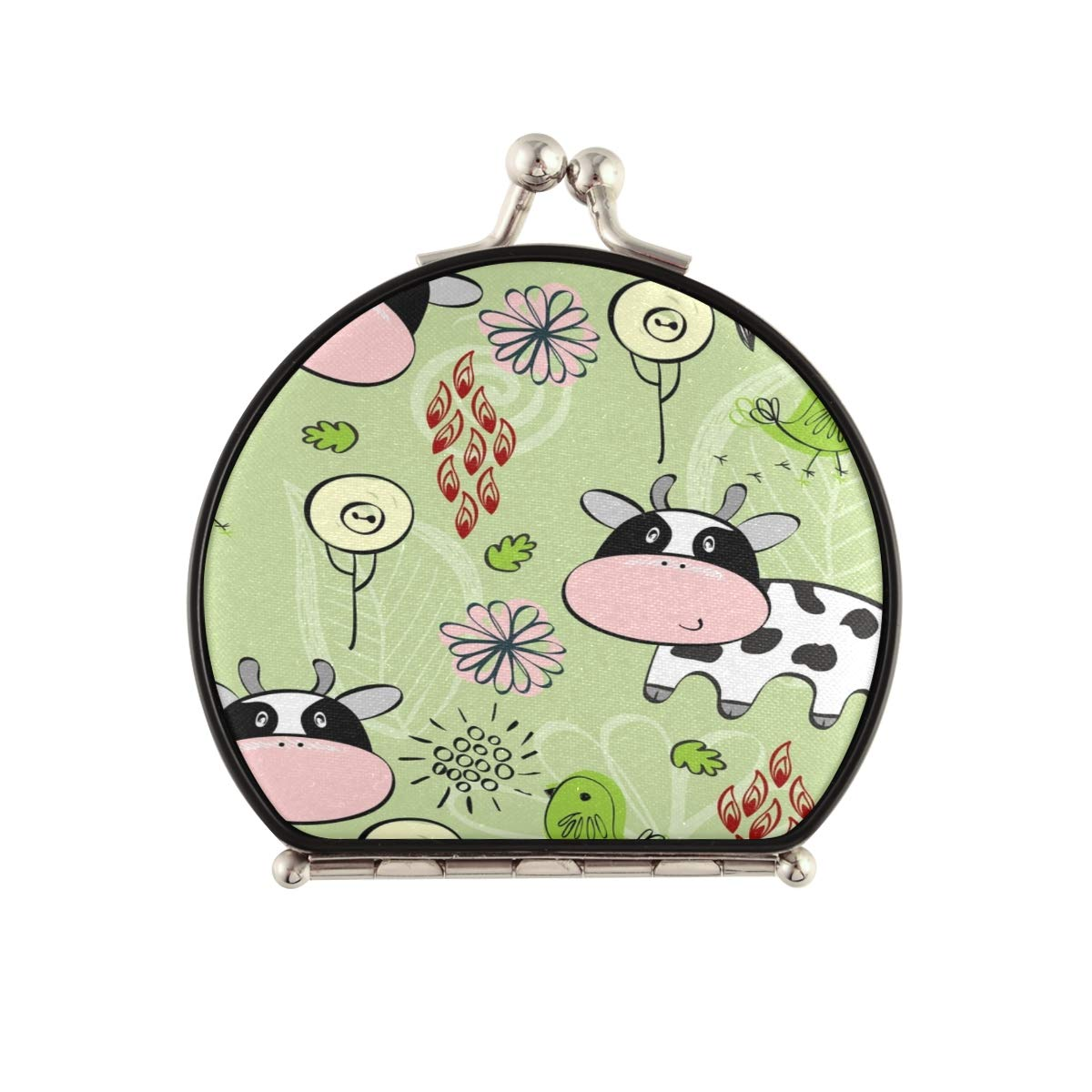 Magnifying Compact favorite Cosmetic Mirror Babies Cows Pattern Draw Hand Price reduction