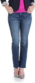 Lee Riders Midrise Straight Premium Stretch Jeans, Medium Wash, Size 18P Blue