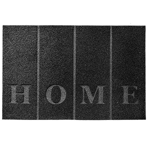 GreatPacks Matte anthrazit - Fußmatte (40 x 60 cm, Schwarz HOME)