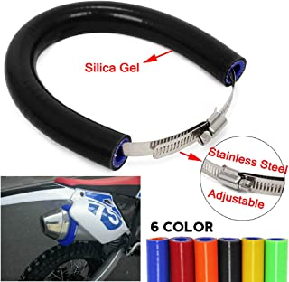 An Xin - Protector universal para silenciador de escape de motocicleta, protección contra el calor, para K.T.M, Kawasaki, Honda, Yamaha, Suzuki, Dirt Bike, Motocross, Supermoto Endro, 250–450 cc