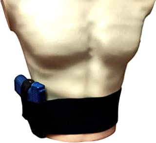 Comfortable Holsters Belly Band Gun Holster for Concealed Carry - Black - Comes with Free Knife