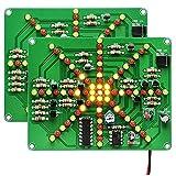 Kyrio 2PCS Luces LED Intermitentes electrónicas Tablero de práctica de Soldadura PCB Kit de Bricolaje Suite de Entrenamiento de Circuito