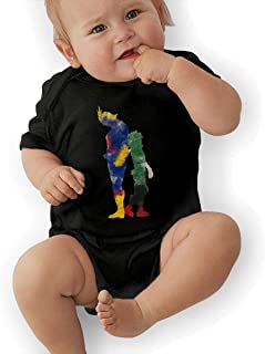 My Hero Academia Infant Baby Short-Sleeve Baby Onesie Black 0-3M